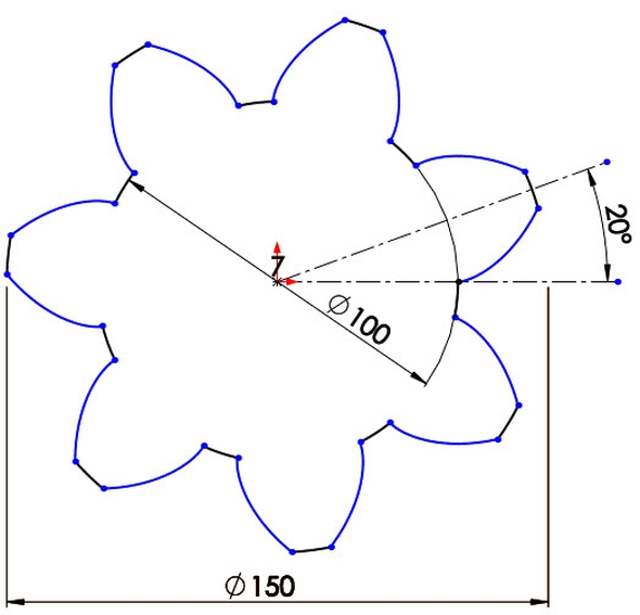 12-evolventa-SolidWorks-ozubeni-parametricka-rovnice-křivka