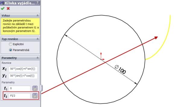 4-evolventa-SolidWorks-ozubeni-parametricka-rovnice-křivka