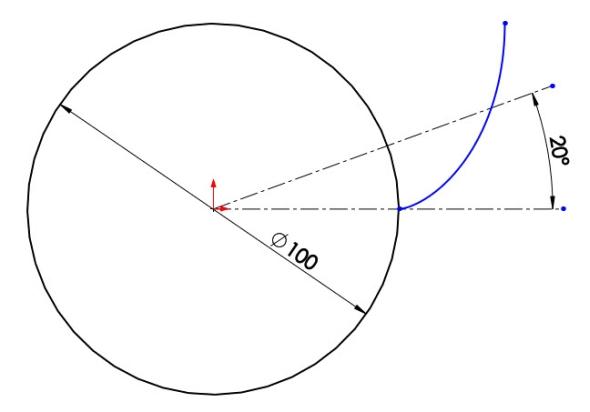 6-evolventa-SolidWorks-ozubeni-parametricka-rovnice-křivka
