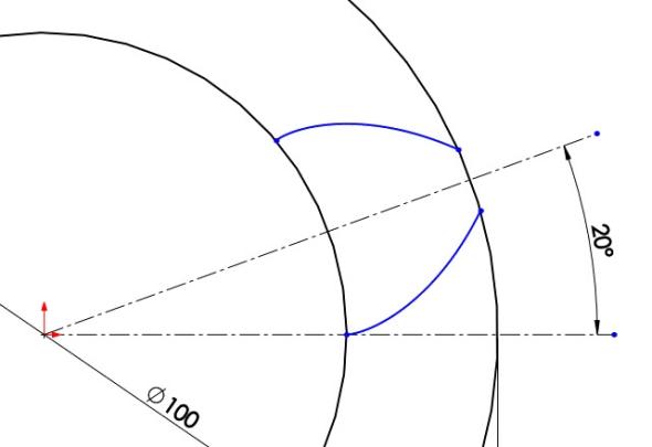 8-evolventa-SolidWorks-ozubeni-parametricka-rovnice-křivka