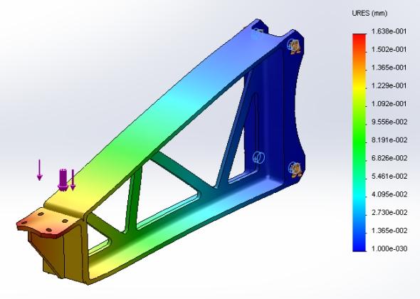Jak ověřit pevnost modelů a působení dynamických sil v řešení SolidWorks Simulation se dozvíte na zajímavém on-line semináři již příští týden.  Živá prezentace o délce 22 minut se koná ve čtvrtek 7. dubna od 10 hodin. Přednášku povede Miloš Hrazdíra ze společnosti Dassault Systèmes SolidWorks.  Jak optimalizovat návrh výrobku v řešení SolidWorks Simulation se dozvíte na on-line semináři. Obrázek: autor Jak optimalizovat návrh výrobku v řešení SolidWorks Simulation se dozvíte na on-line semináři. Obrázek: autor