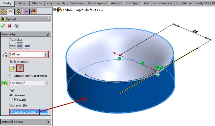 12-SolidWorks-Boolovske-operace-cednik-postup-navod