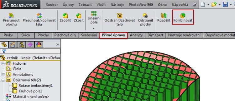 16-SolidWorks-Boolovske-operace-cednik-postup-navod