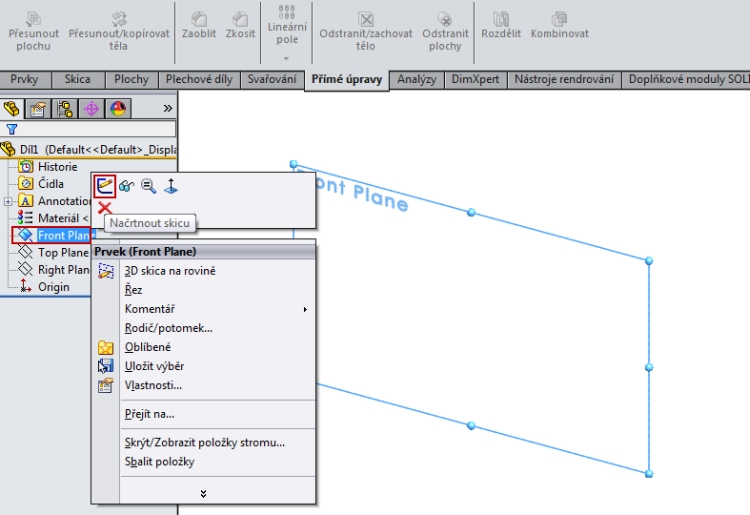 2-SolidWorks-Boolovske-operace-cednik-postup-navod