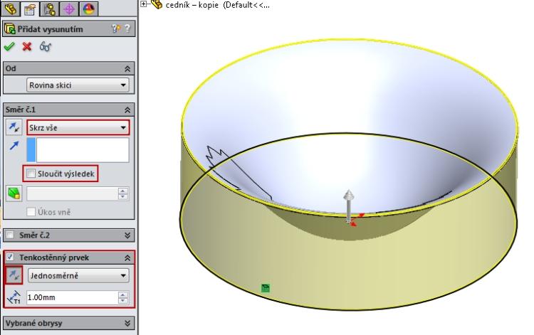 7-SolidWorks-Boolovske-operace-cednik-postup-navod