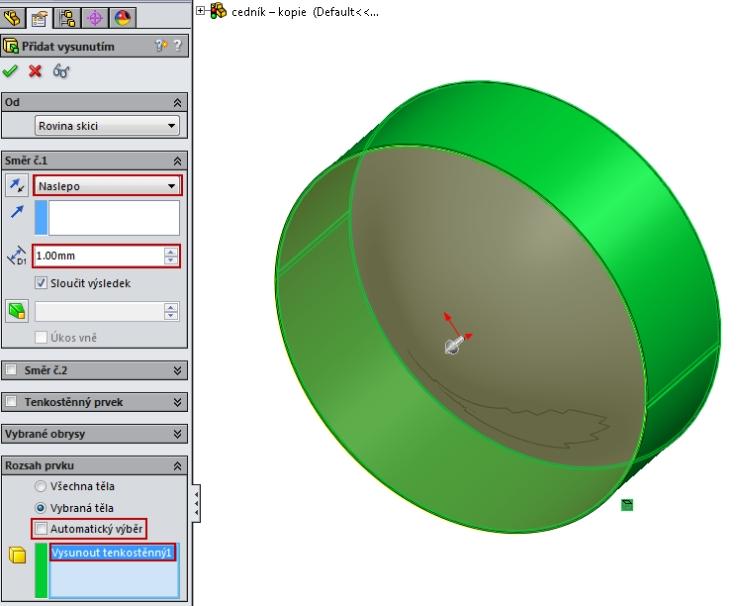8-SolidWorks-Boolovske-operace-cednik-postup-navod