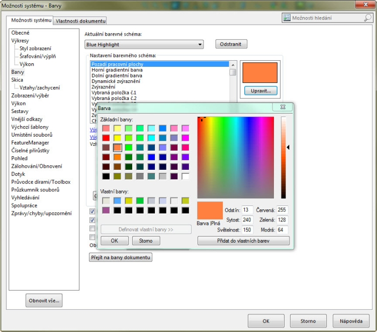 3-zmena-vzhledu-SolidWorks-jak-zmenit-vzhled-barvy