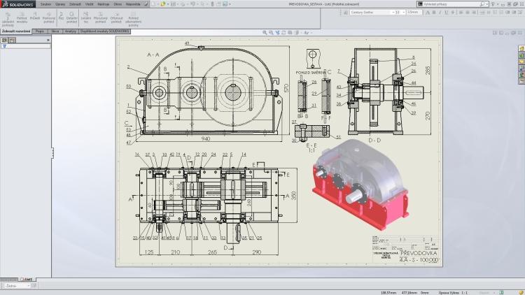 1-SolidWorks-vystredeni-vykresu-dvojklik