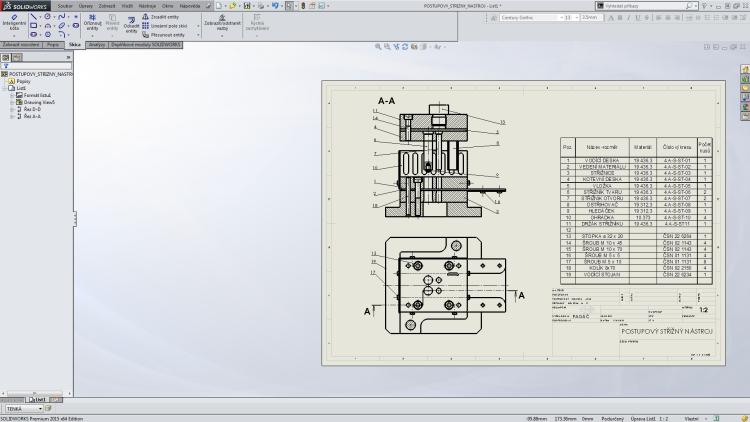 3-SolidWorks-vystredeni-vykresu-dvojklik