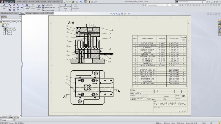 6-SolidWorks-vystredeni-vykresu-dvojklik