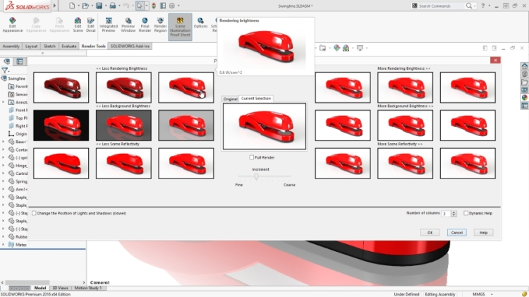 11-PhotoView-360-Lighting-Control-Through-Proof-Sheets-SolidWorks-2016