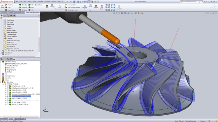 1-SolidCAM-5axis-5ose-frezovani-milling-mujsolidworks
