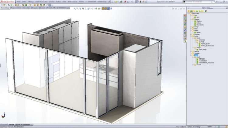 SWWOD Design se jako plnohodnotný modul objevil v SOLIDWORKSU poprvé v roce 2010.Obrázek: SOLIDWORKS