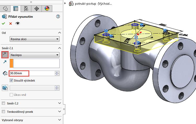 37-model-potrubi-SolidWorks-tutorial-navod-postup