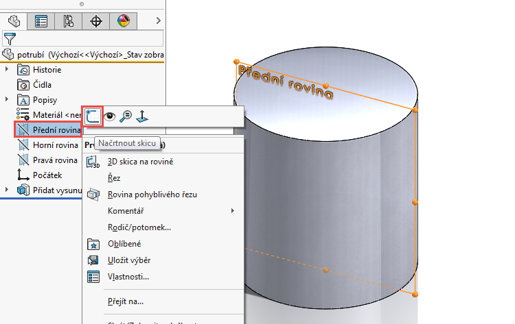 4-model-potrubi-SolidWorks-tutorial-navod-postup