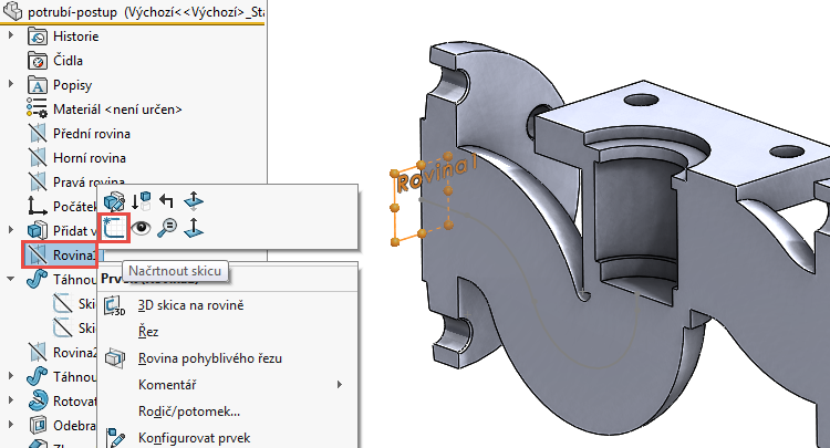 43-model-potrubi-SolidWorks-tutorial-navod-postup