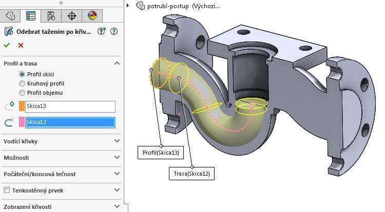46-model-potrubi-SolidWorks-tutorial-navod-postup