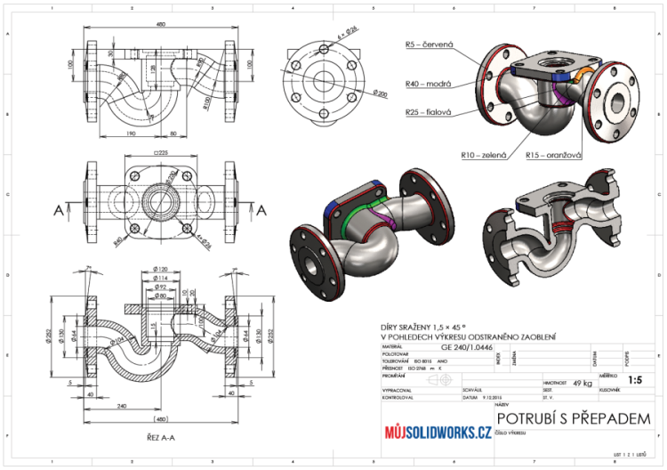 66-model-potrubi-SolidWorks-tutorial-navod-postup-vykres