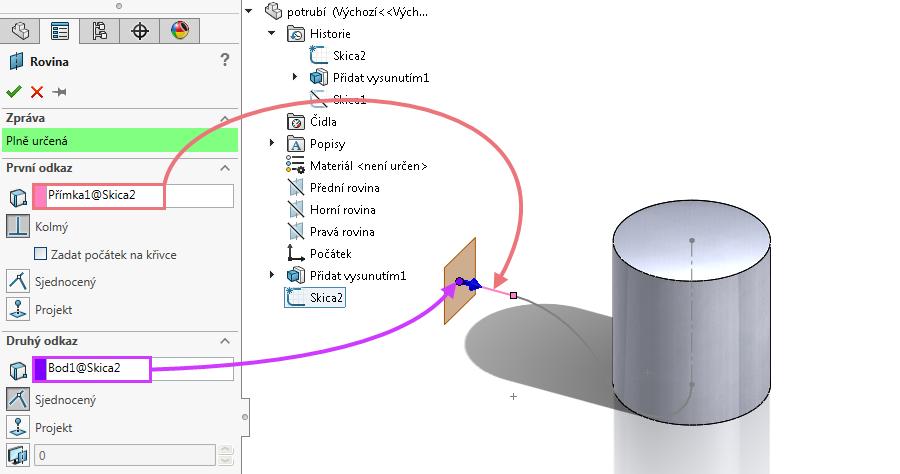 7-model-potrubi-SolidWorks-tutorial-navod-postup