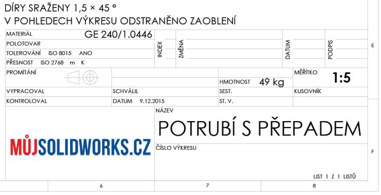 76-model-potrubi-SolidWorks-tutorial-navod-postup-vykres-nahled