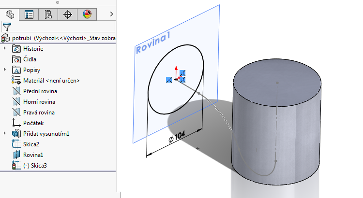 8-model-potrubi-SolidWorks-tutorial-navod-postup