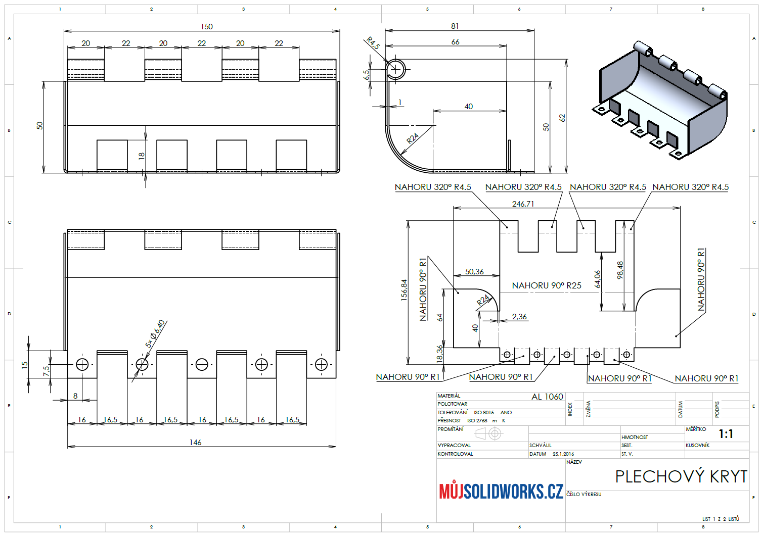 1-SolidWorks-plechovy-dil-Sheet-metal-navod-postup-vykres-1