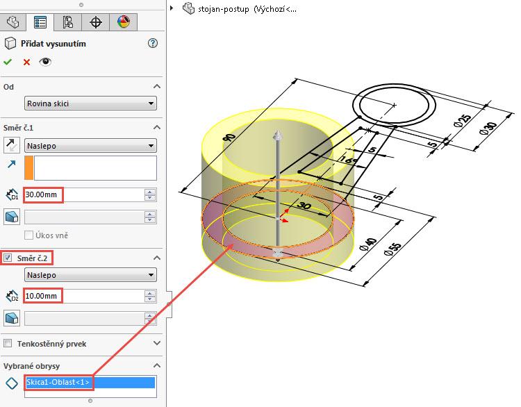 6-SOLIDWORKS-modelovaci-navod-postup-tutorial-stojan-pevnostni-analyza