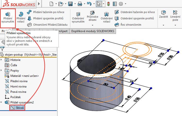7-SOLIDWORKS-modelovaci-navod-postup-tutorial-stojan-pevnostni-analyza