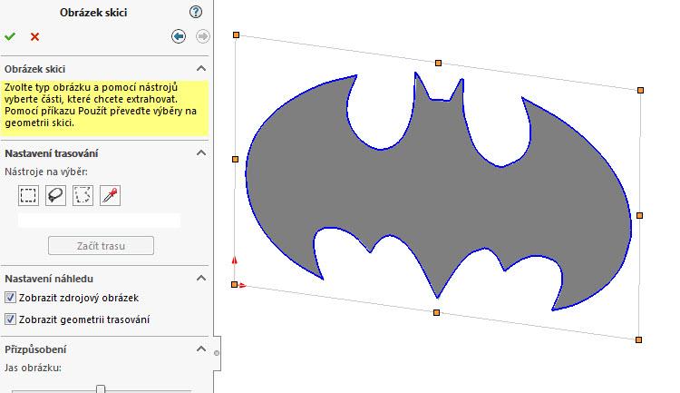 1-SolidWorks-Autotrace-postup-jak-prevest-obrazek-na-entity-skici