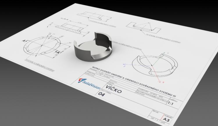 Ukázka zadání výkresové dokumentace v soutěži 3D modelování v SOLIDWORKSu v roce 2016