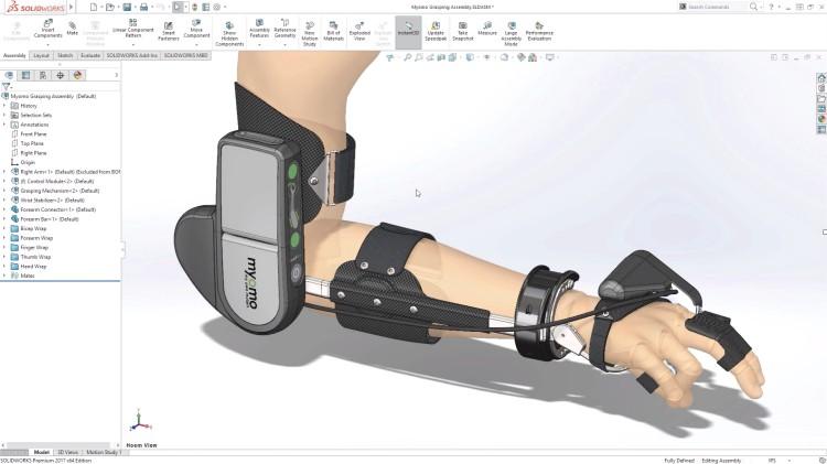 Model robotické ortézy Myomo