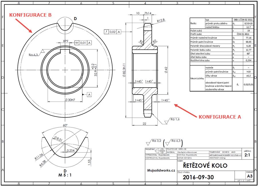 Retezove Kolo Tvorba Konfiguraci Modelu Pro Vykres Mujsolidworks Cz