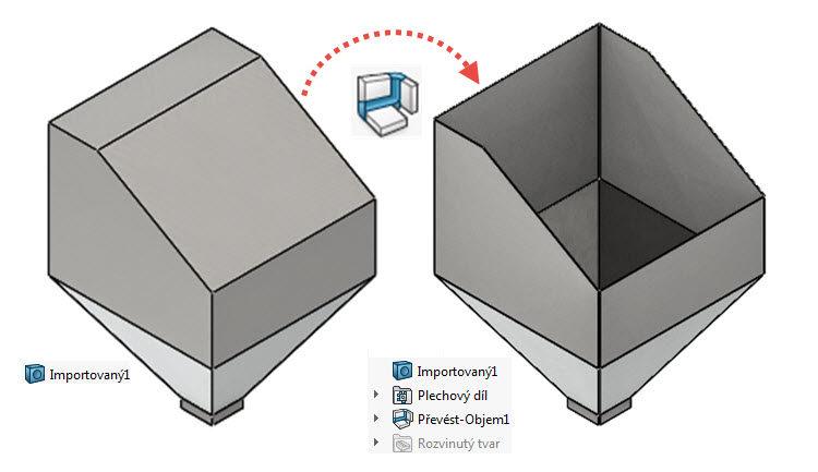 16-SolidWorks-Plechove-dily-prevod-ohnuteho-importovaneho-modelu-na-plechovy-dil