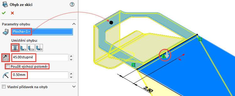 23-SolidWorks-Plechove-dily-prevod-rozvinuteho-importovaneho-modelu-na-plechovy-dil