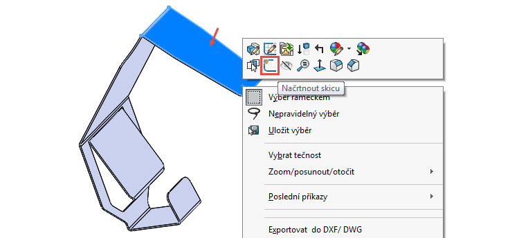 27-SolidWorks-Plechove-dily-prevod-rozvinuteho-importovaneho-modelu-na-plechovy-dil