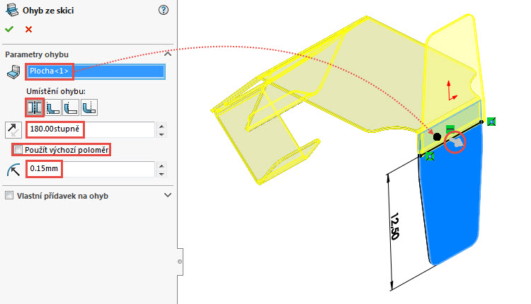 29-SolidWorks-Plechove-dily-prevod-rozvinuteho-importovaneho-modelu-na-plechovy-dil