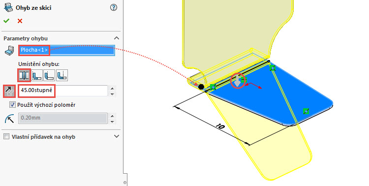 32-SolidWorks-Plechove-dily-prevod-rozvinuteho-importovaneho-modelu-na-plechovy-dil