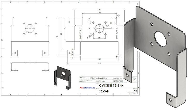 35-SolidWorks-plechove-dily-cviceni-ohyb-ze-skici-priklad-cviceni-12.3-konstrukce-postup-navod-tutorial-krok-za-krokem