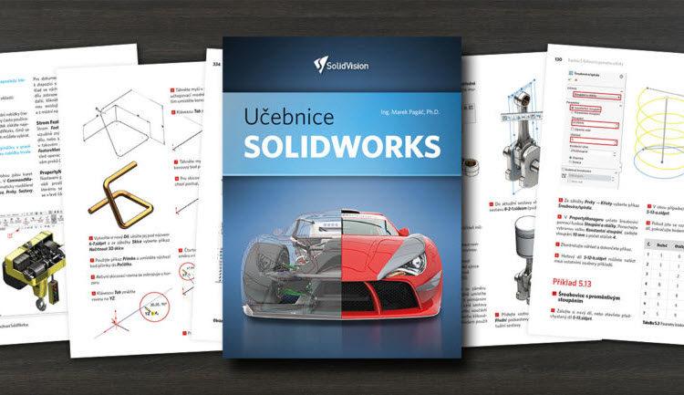 Nová učebnice SOLIDWORKS v celobarevném provedení a s didaktickým výkladem nahradí již neaktuální a vyprodané druhé revidované vydání z roku 2010