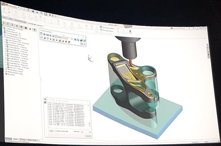 Jádro integrovaného řešení SOLIDWORSK CAM vSOLIDWORKSu 2018 je postaveno na softwaru CAMWorks, který vyvíjí společnost Geometric