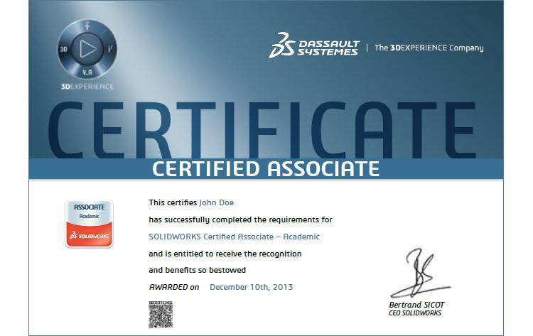 Po úspěšném vykonání zkoušky CSWA-Associate obdržíte certifikát