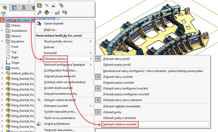 1-SolidWorks-Large-assembly-velke-sestavy-seskupeni-soucasti