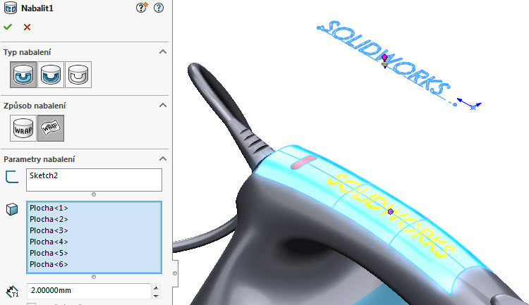 12-SolidWorks-2017-Nabalit-pismo-text-postup-navod