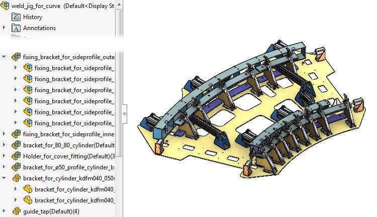 3-SolidWorks-Large-assembly-velke-sestavy-seskupeni-soucasti