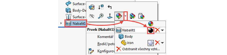 8-SolidWorks-2017-Nabalit-pismo-text-postup-navod