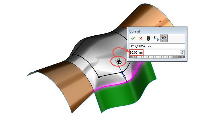 5-odsazeni-curved-surface-na-3D-povrchu-SolidWorks-2017-novinky