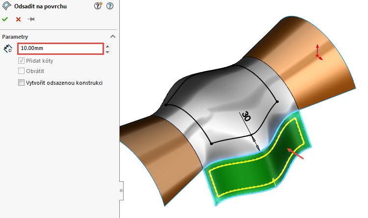 6-odsazeni-curved-surface-na-3D-povrchu-SolidWorks-2017-novinky