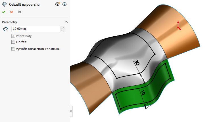 7-odsazeni-curved-surface-na-3D-povrchu-SolidWorks-2017-novinky