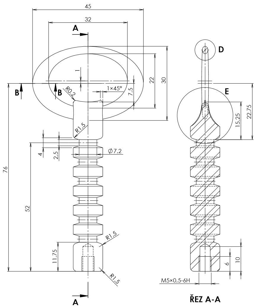 2-SolidWorks-vyvrtka-zadani-sroubeni-vykres