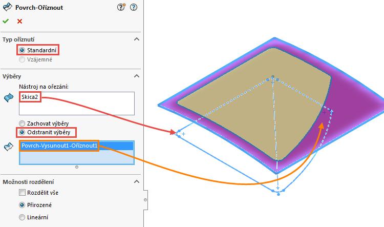8-Ucebnice-SolidWorks-modelovani-ploch-priklad-14-2-postup-navod-tutorial